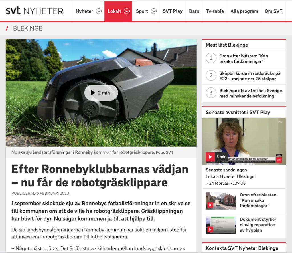 reportage om gräsklippare