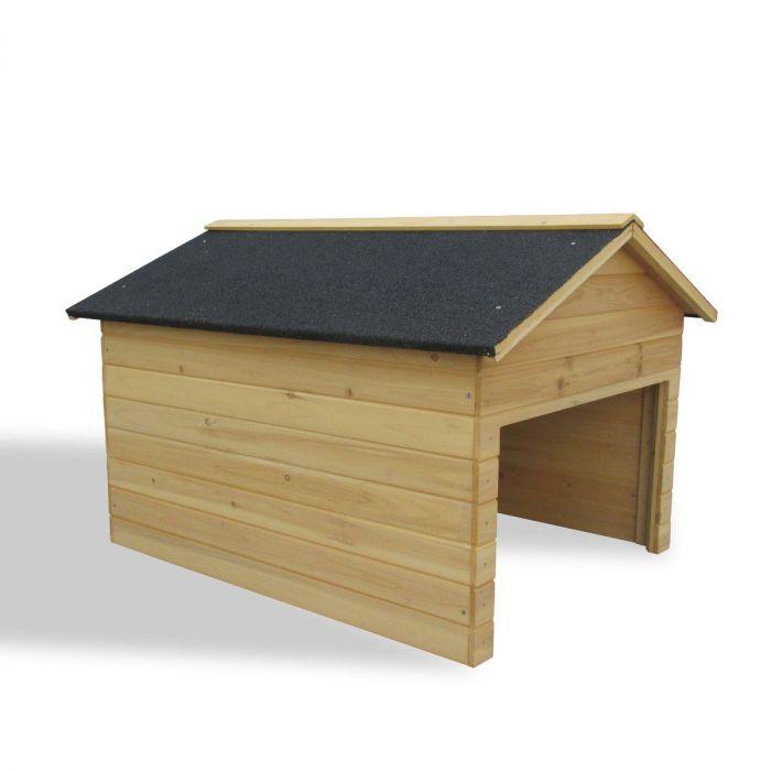 garage i trä till din robotgräsklippare